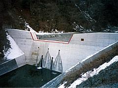 平成13年度 本谷ダム耐震補強工事